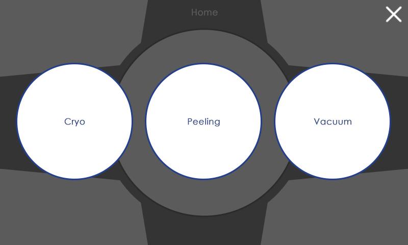 Peeling System menu